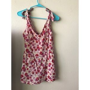 ROMPER, Flower patterned